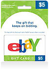 eBay Gift Card $ 5 (US)