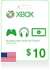 Xbox Live Gift Card (US) $ 10